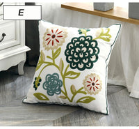 Home Decoration Cushion Cover Ethnic Style Canvas Square Embroidery Pillow Cover 45x45cm for Sofa Bed
