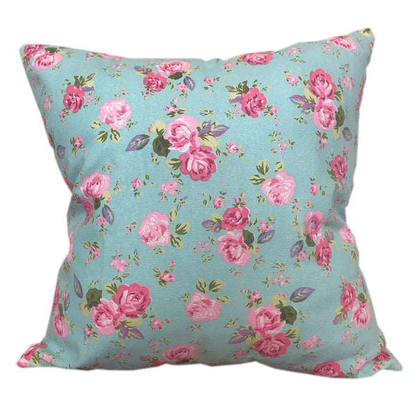 CURCYA Thick Canvas Cushion Cover Roses Floral Sofa Seat Cushion Case Flowers Printed 100% Cotton Throw Pillow Cover