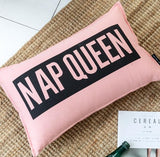 35x55/45x45cm Cotton canvas sofa letter printed pillowcase cushion cover lumbar pillow cover backrest home decor