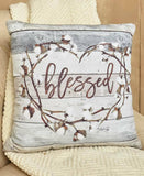 Charming Natural Cotton Boll Accent Pillows Rustic Farmhouse Marla Rae Design