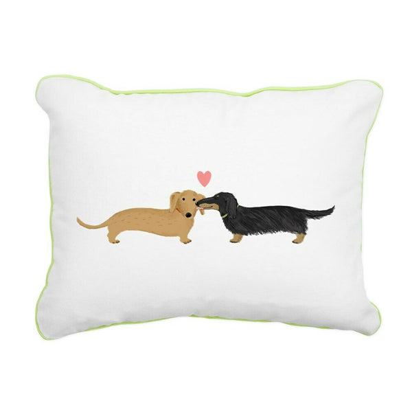 CafePress Dachshund Smooch Accent Pillow (780097253)