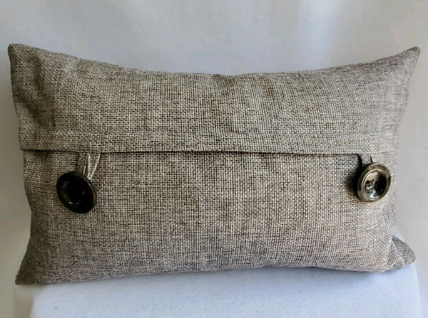 Decorative Accent Lumbar Pillow 24 X 14 Rectangle Tweed Brown Soft Comfy