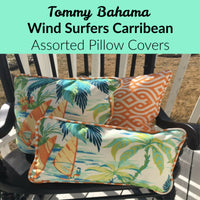 "Tommy Bahama ""Wind Surfers Carribean"", Accent Pillow, Outdoor Lumbar 10X15"