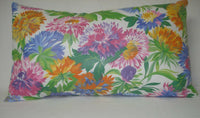 Asters Decorative Accent Decorative Throw Pillow Cover Blue,Pink,Yellow 12x20