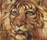 "20"" DECORATIVE TAPESTRY PILLOW COVER A Tiger EUROPEAN CUSHION ANIMAL ACCENT"