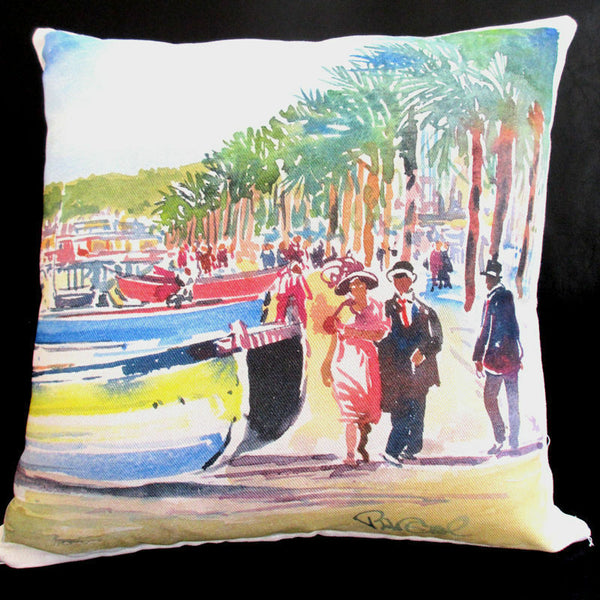 "Decorative and Accent French Pillow - ""Scenes of Provence"", made in France"