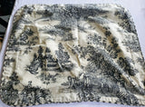 BLACK TOILE FRENCH COUNTRY DECORATIVE ACCENT THROW PILLOW COVER
