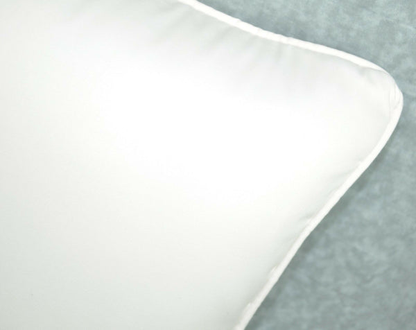 NEW Self Corded Accent Pillow made w Ralph Lauren Egyptian White Cotton Fabric