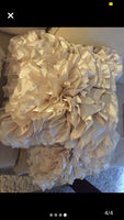 Pier 1 Pillows Flounce Accent Throw Decorative Pillows~ satin IVORY Color