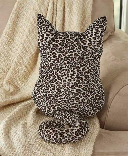 Leopard Cat Pillow Accent Pillow Bed Pillow Cat Lover Pillow