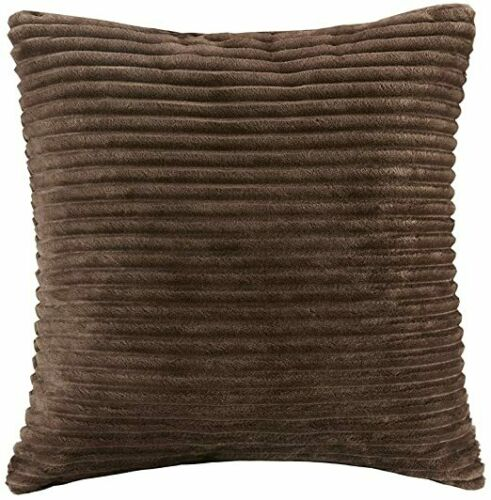 "Premier Comfort Parker Brown Corduroy Plush 20"" Square Accent Throw Pillow"