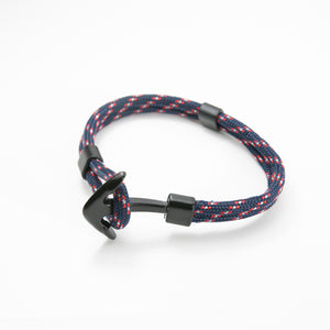 Anchor Rope Bracelet - Navy/Red