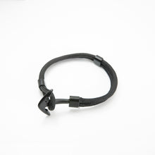 Load image into Gallery viewer, Anchor Rope Bracelet - Black