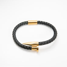 Load image into Gallery viewer, Crucify Leather Bracelet Gold