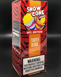 8 ball Snow Cone Tiger's Blood MTL