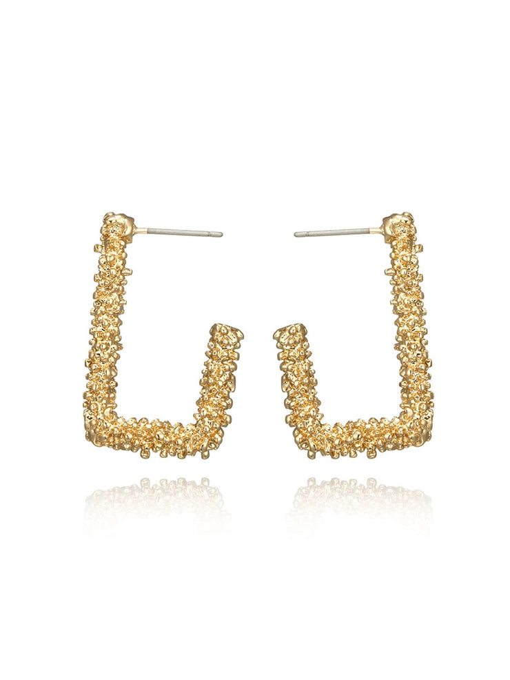 Cut Open Rectangle Drop Earrings