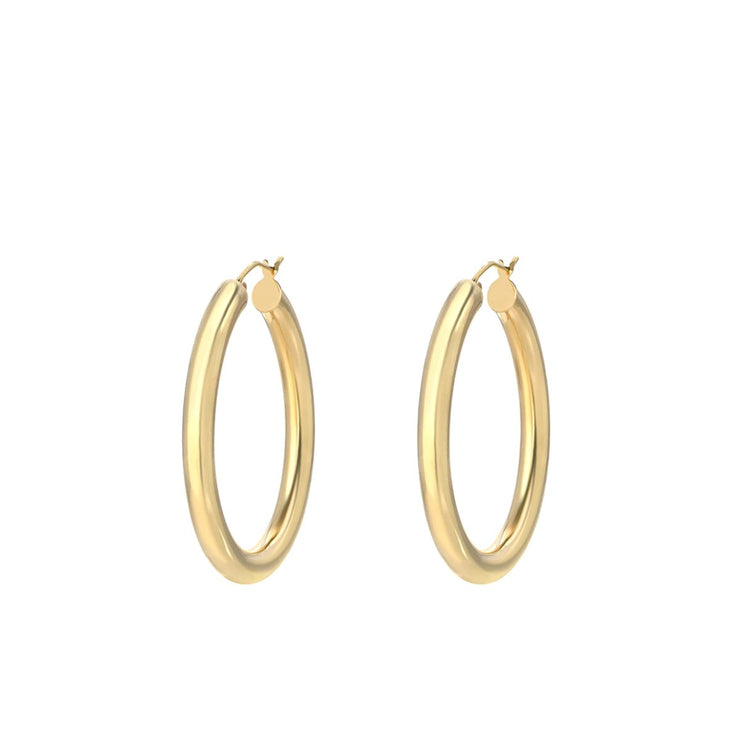 Classic Round Hoop Earrings