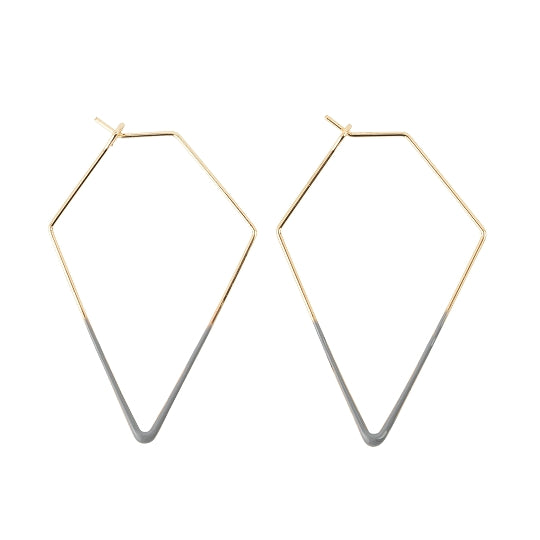 Dipped Triangle Earrings