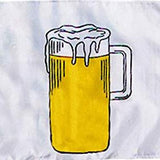 Beer logo on white background flag