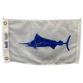 Blue marlin on white background