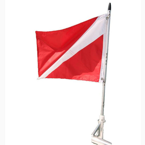 "Diving flag on 41"" staff"