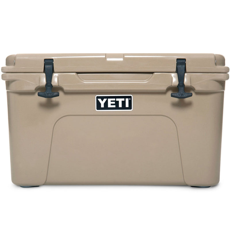 Tan colored cooler.