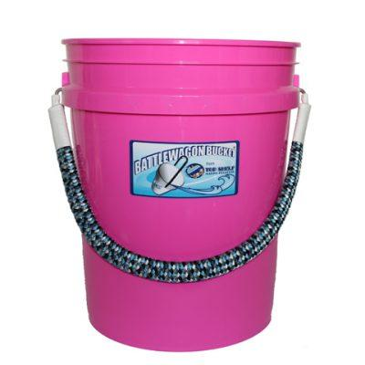 pink bucket with camo handle