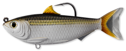 Imitation sardine with a hook coming out of the top of its back