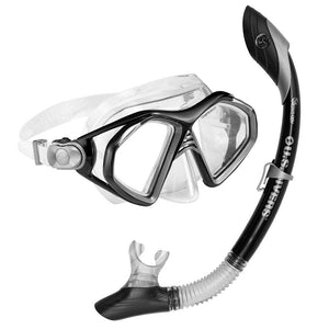 Black and Clear mask and snorkel