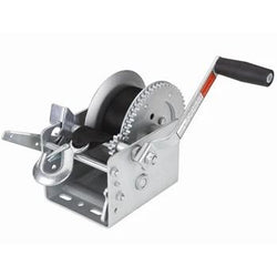 Steel winch with handle and strap