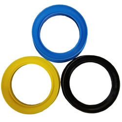 "Plastic hand reel used for handline fishing with 9"" center gap. Comes in blue, yellow, and black."