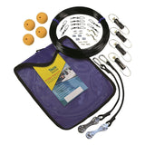 Kit bag, line, cork, swivels, and two shock cords