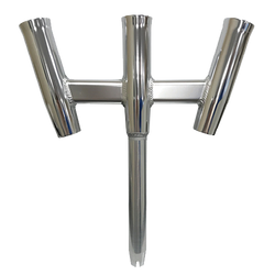 Stainless trident rod holder