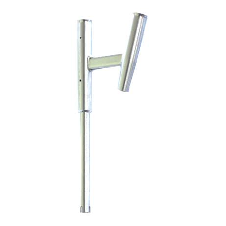 Straight and angled rod holder