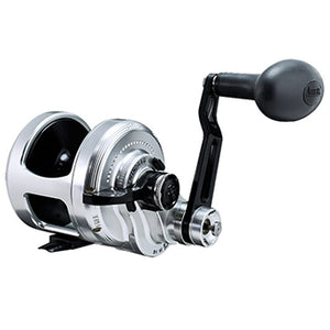 Silver exterior with black arm and inside reel