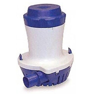 "White cylinder blue top and base: 7.2"" x 6.0"" [184 x 154mm], 1-1/8"" Outlet Barb"