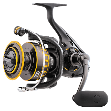 Yellow and black spinning reel