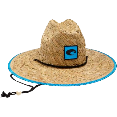 Straw hat with chin strap
