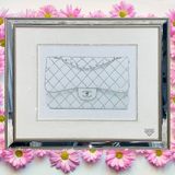 Chanel Bag Diamond Crystal Wall Art