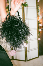 Charley Ostrich Evening Bag