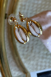 Abrie Cowrie Shell Earrings