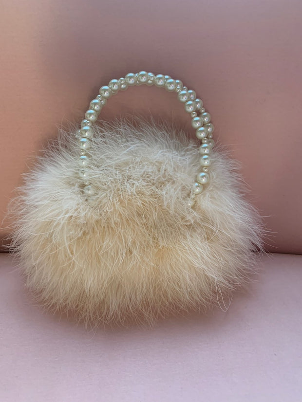Liza Marabou Evening Bag