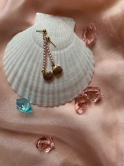 Lida Pearl Closed Shell Earrings