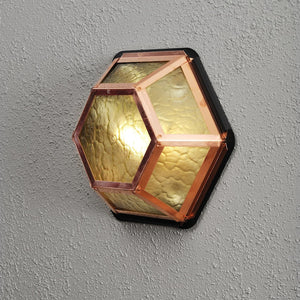 Castor 6 Wall Light Copper Amber 533-900