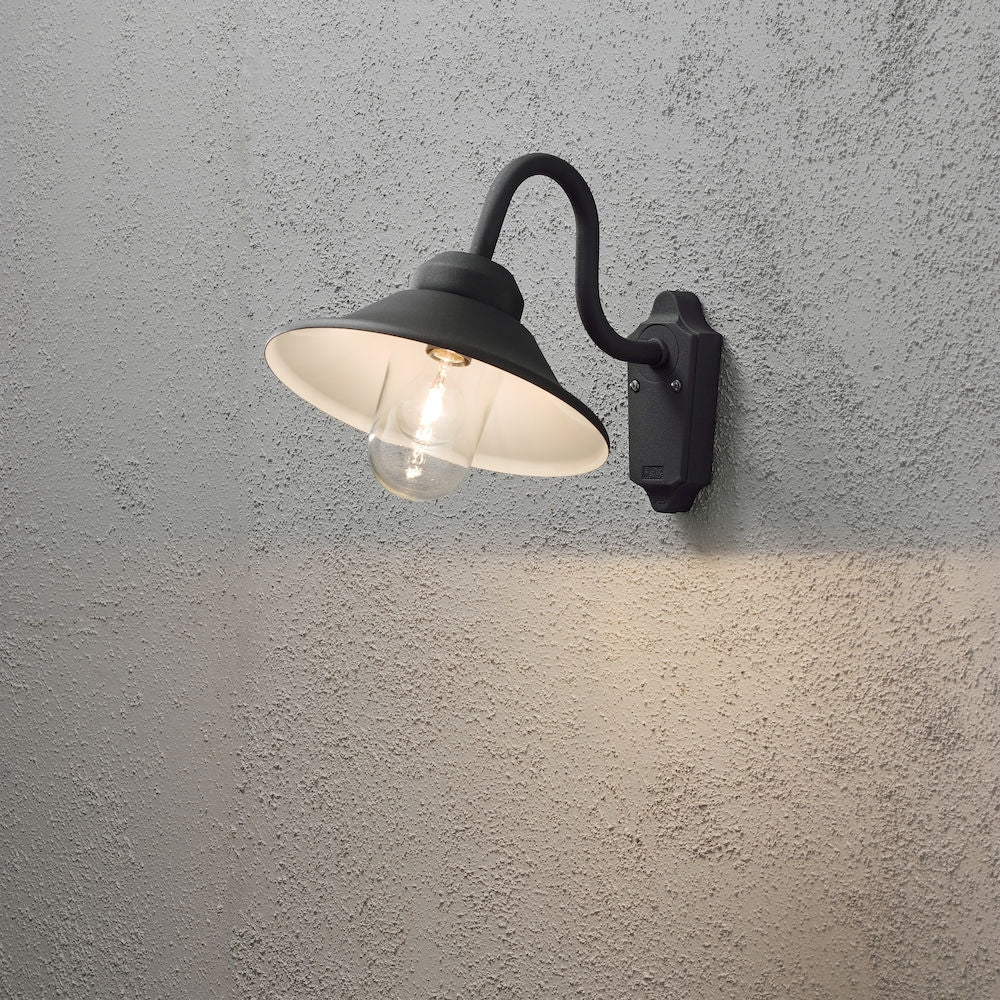 Vega Matt Black Wall Light 556-750