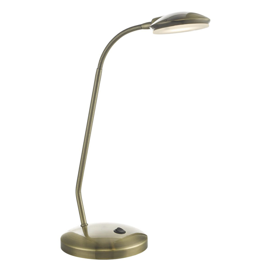 Aria Task Lamp Antique Brass LED