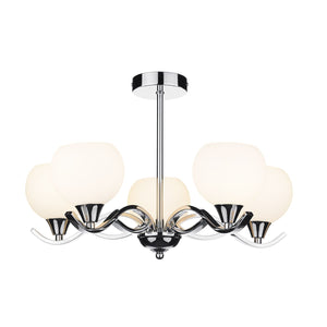 Aruba 5 Light Semi Flush Polished Chrome