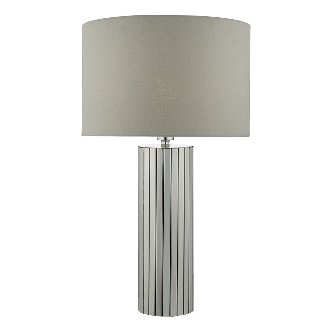 Cassandra Table Lamp Polished Chrome complete with Shade