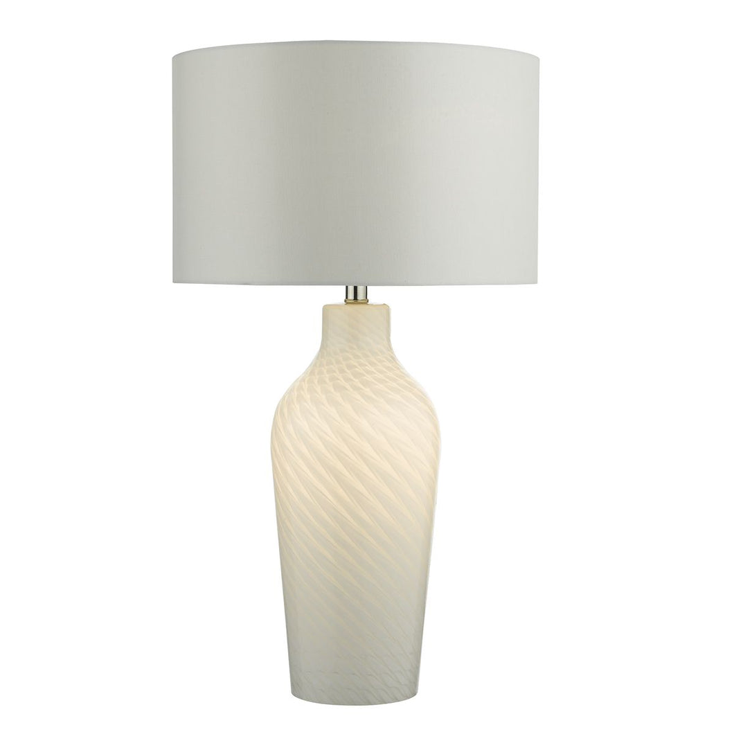 Cibana Table Lamp Dual Source White complete with Shade