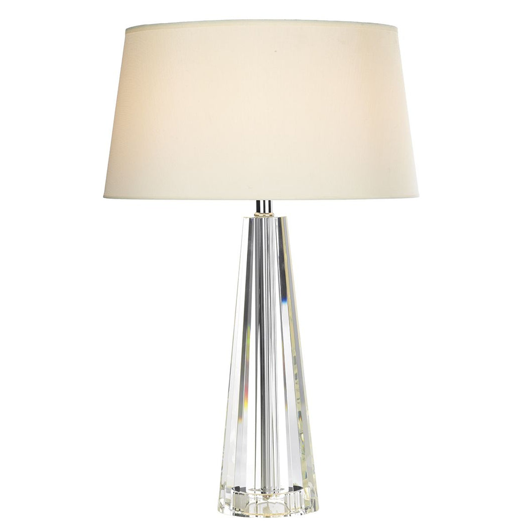 Cyprus Table Lamp Tapered Crystal complete with CYP1233 Shade